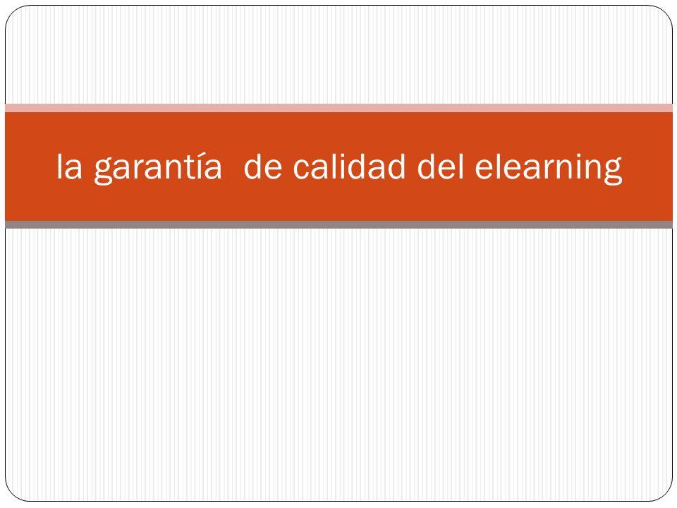 la garantía de calidad del elearning