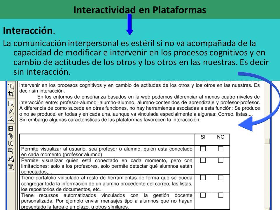 Interactividad en Plataformas Interacción.