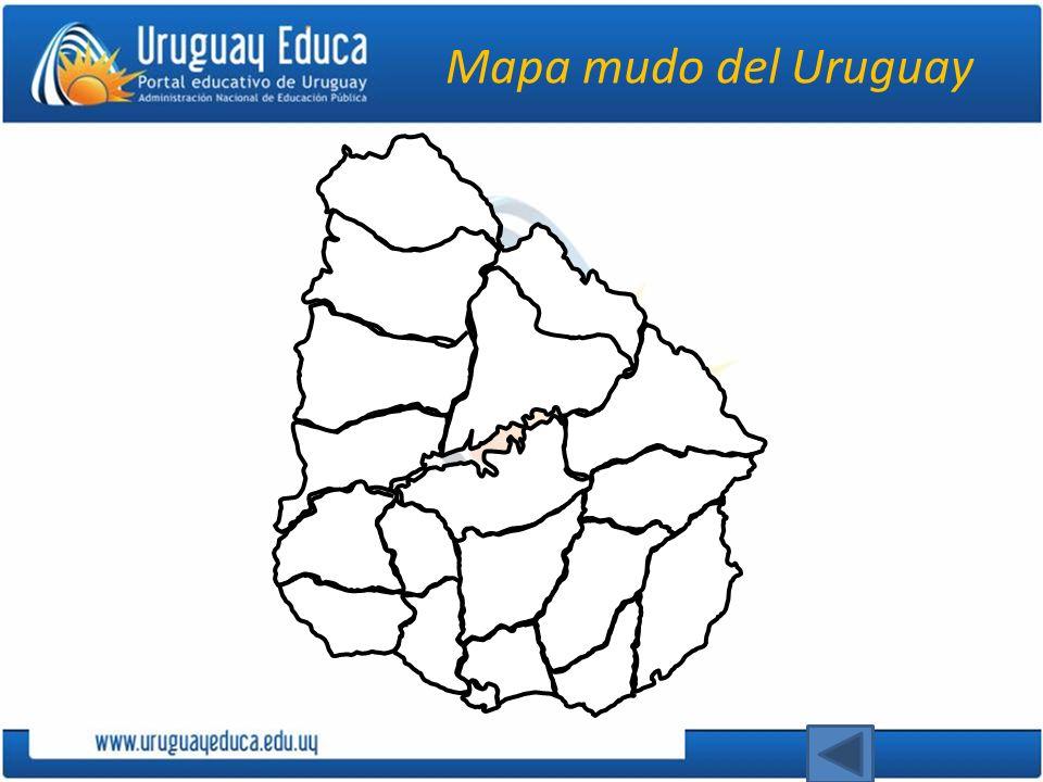 Mapa mudo del Uruguay