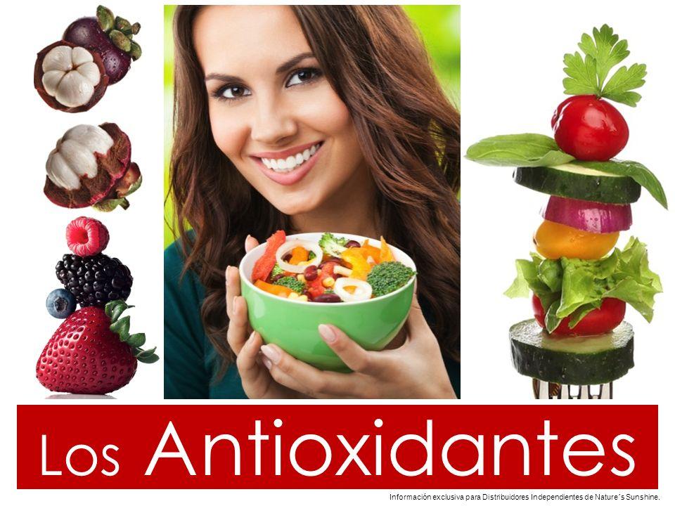 zuvijo2010@hotmail.com Los Antioxidantes Información exclusiva para Distribuidores Independientes de Nature´s Sunshine..
