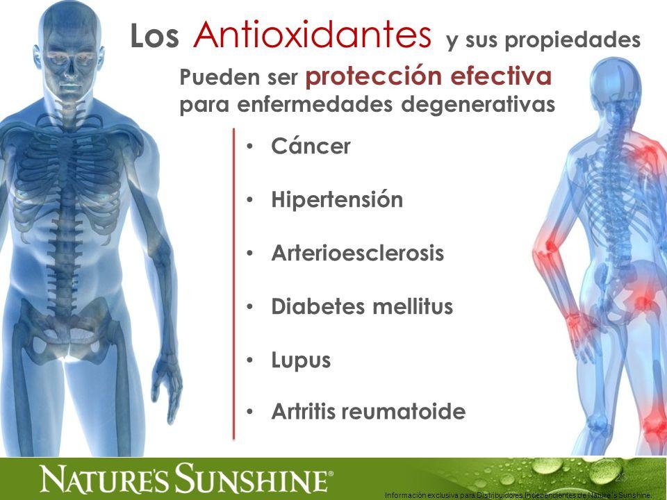 23 Información exclusiva para Distribuidores Independientes de Nature´s Sunshine.. Cáncer Hipertensión Arterioesclerosis Diabetes mellitus Lupus Puede