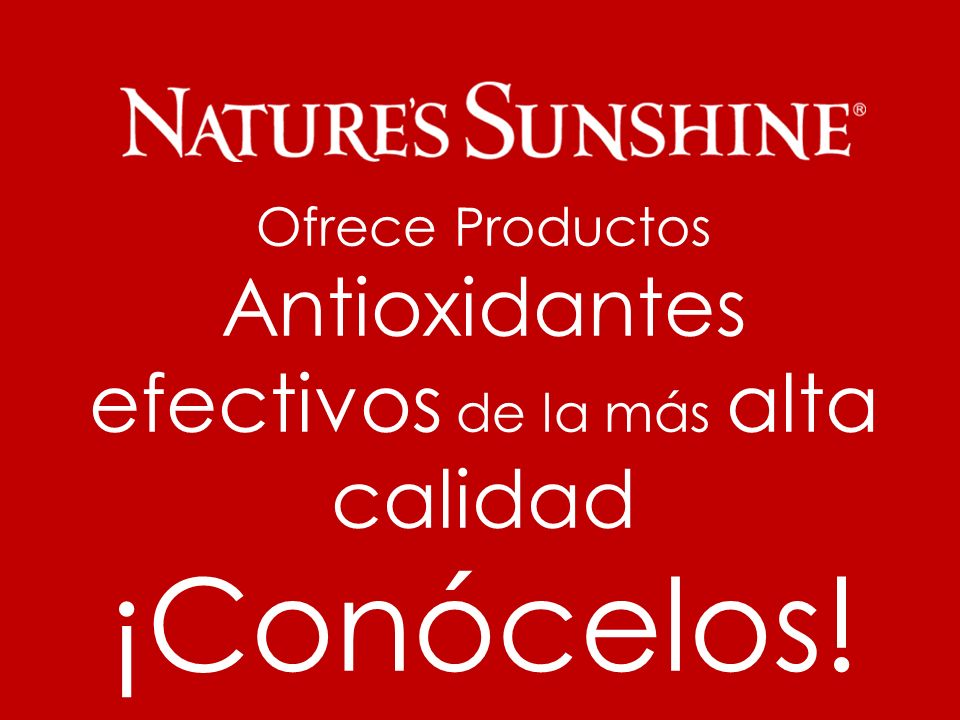 Información exclusiva para Distribuidores Independientes de Nature´s Sunshine..