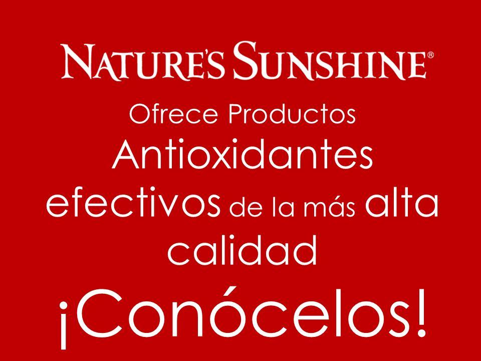 Ofrece Productos Antioxidantes efectivos de la más alta calidad ¡Conócelos!