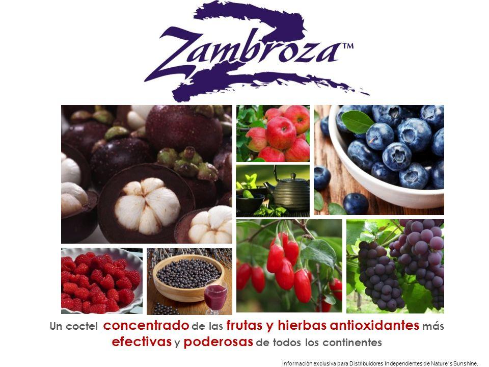 Información exclusiva para Distribuidores Independientes de Nature´s Sunshine.. Un coctel concentrado de las frutas y hierbas antioxidantes más efecti