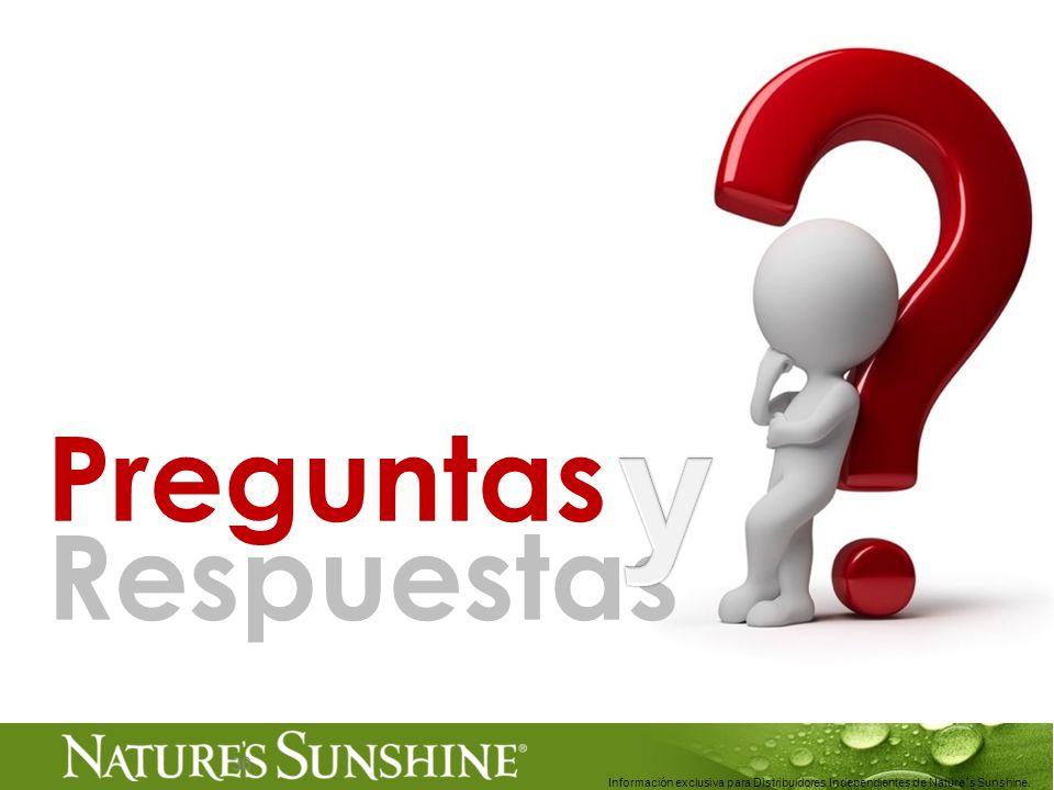 36 Preguntas Respuestas Información exclusiva para Distribuidores Independientes de Nature´s Sunshine..