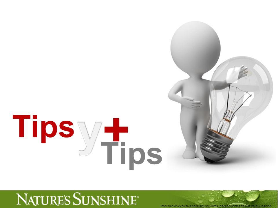 39 Tips Información exclusiva para Distribuidores Independientes de Nature´s Sunshine..