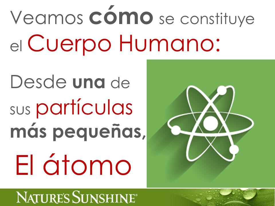 Desde una de sus partículas más pequeñas, Veamos cómo se constituye el Cuerpo Humano: El átomo