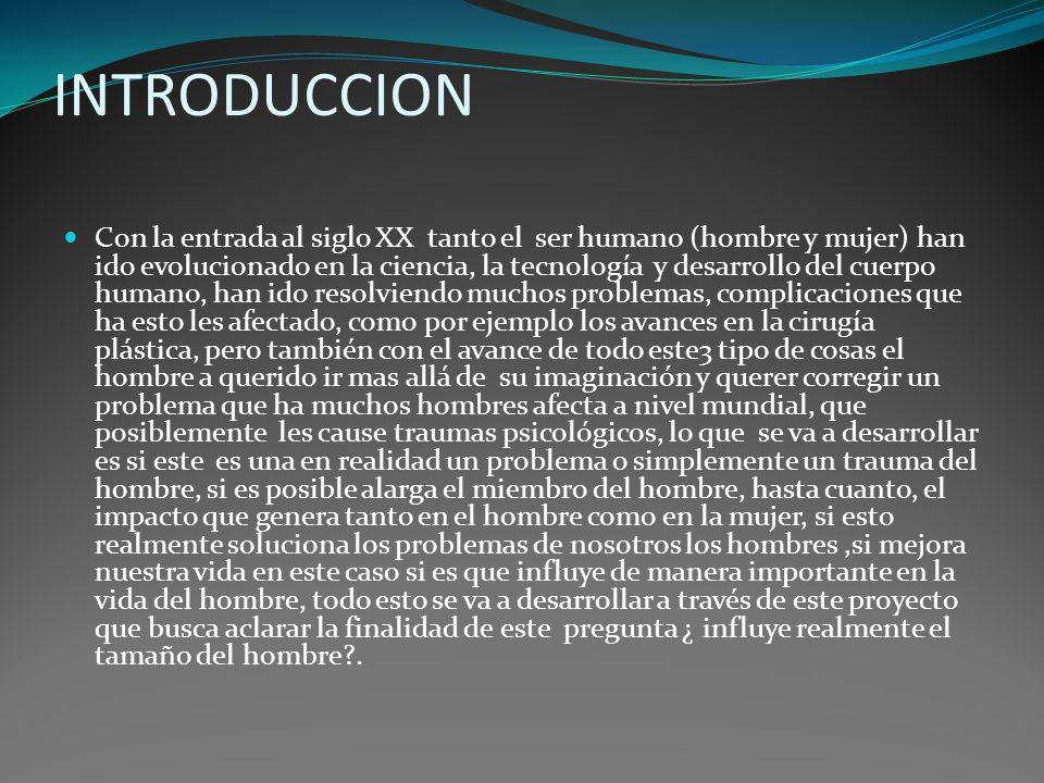 INTRODUCCION Con la entrada al siglo XX tanto el ser humano (hombre y mujer) han ido evolucionado en la ciencia, la tecnología y desarrollo del cuerpo
