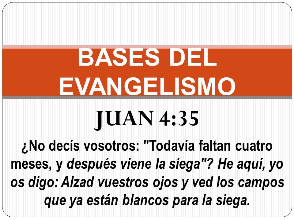 JUAN 4:35 ¿No decís vosotros: