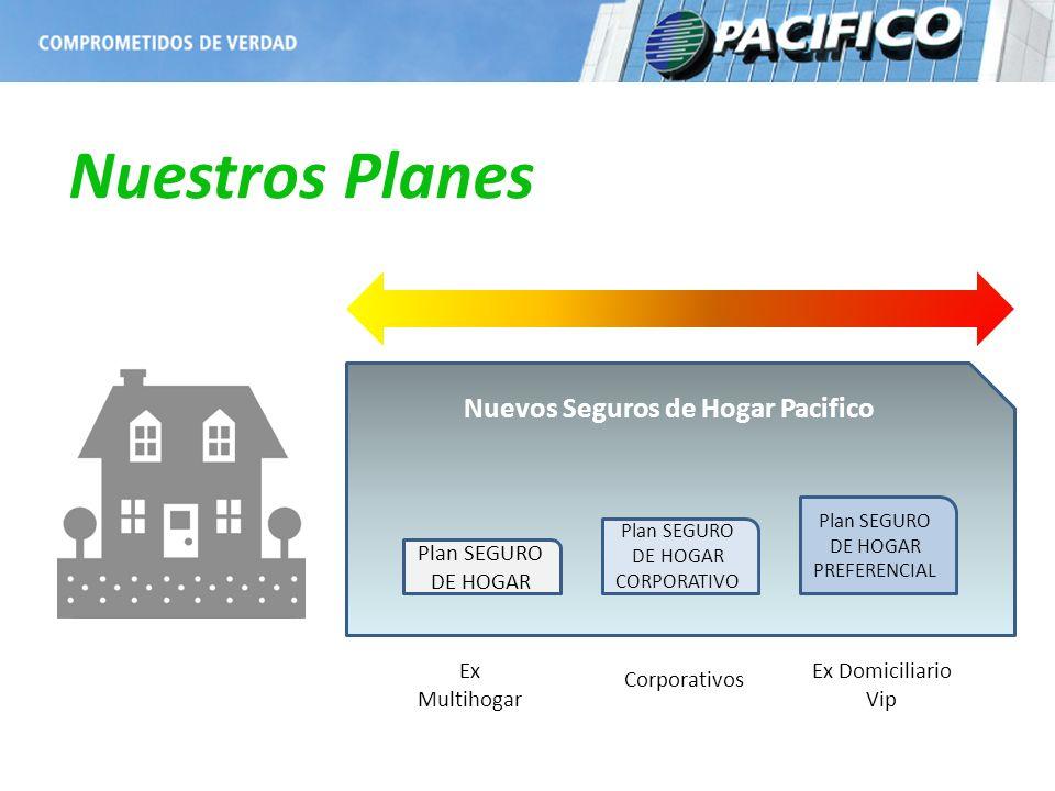 Nuestros Planes Nuevos Seguros de Hogar Pacifico Plan SEGURO DE HOGAR Plan SEGURO DE HOGAR CORPORATIVO Plan SEGURO DE HOGAR PREFERENCIAL Ex Multihogar