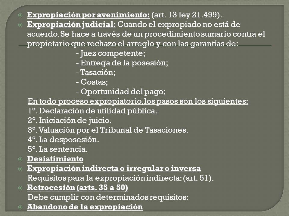 Analisis de la Ley; 21499 Titulo 1- Calificación de utilidad publica, art.1 Titulo 2- Sujetos de la relación expropiatoria, art.2 y3 Titulo 3- Objeto expropiable, art.