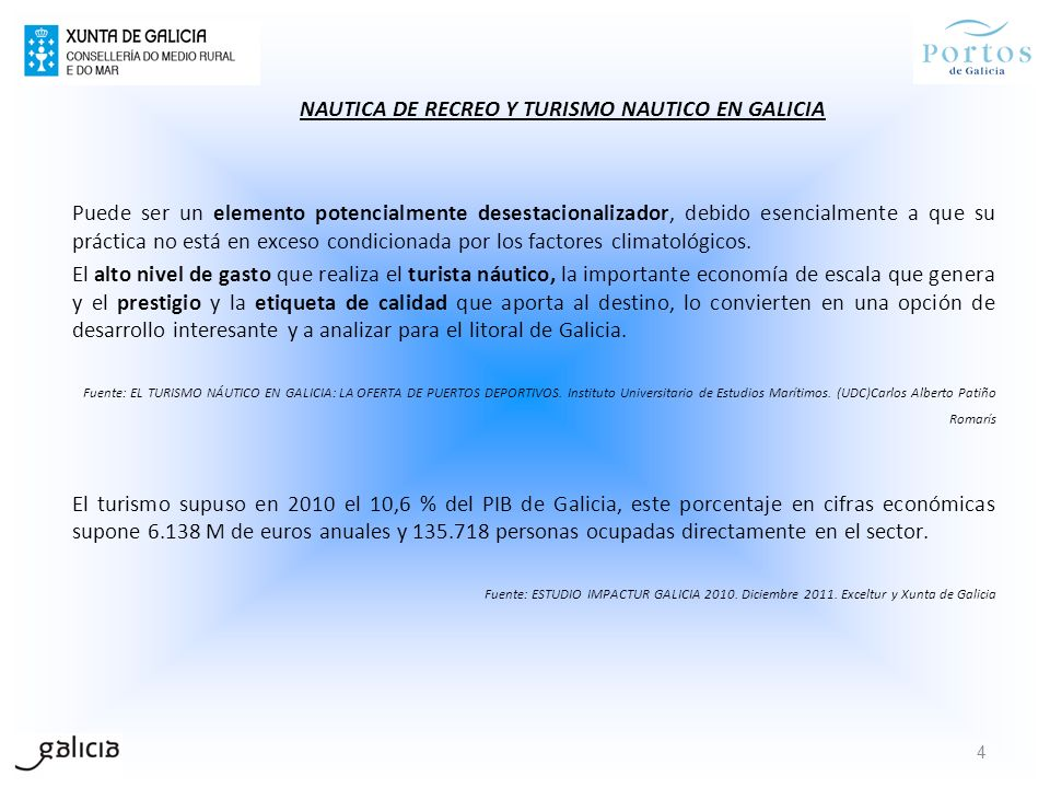 Si tomamos esta metodología para un diagnóstico general del turismo náutico en Galicia, una matriz DAFO podría quedar de la siguiente manera: DEBILIDADES No existe una politica de turismo náutico orientada a las necesidades de la demanda y al posicionamiento estratégico del mercado para las nuevas tendencias de ocio.