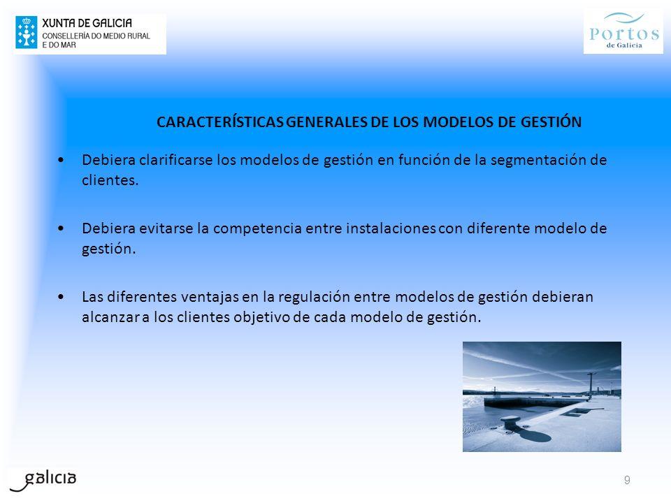 CARACTERÍSTICAS GENERALES DE LOS MODELOS DE GESTIÓN Debiera clarificarse los modelos de gestión en función de la segmentación de clientes. Debiera evi