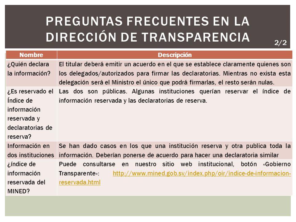 NombreDescripción ¿Quién declara la información.