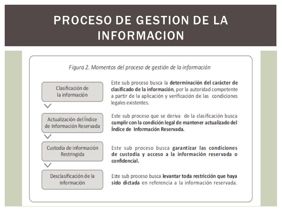 PROCESO DE GESTION DE LA INFORMACION
