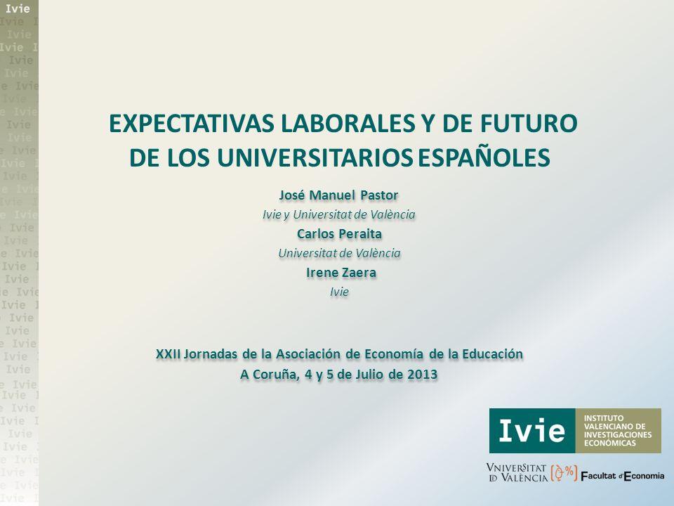 José Manuel Pastor Ivie y Universitat de València Carlos Peraita Universitat de València Irene Zaera Ivie XXII Jornadas de la Asociación de Economía d