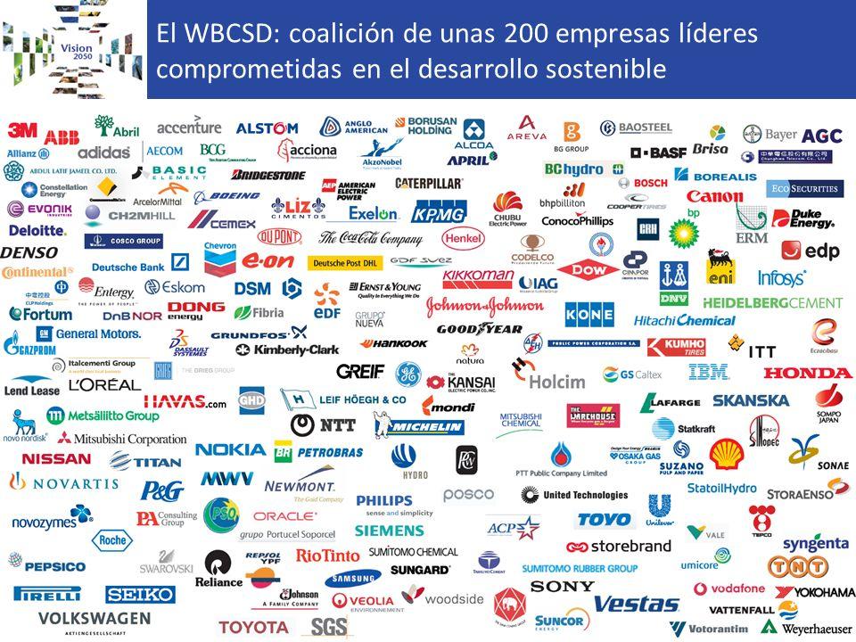 El WBCSD: coalición de unas 200 empresas líderes comprometidas en el desarrollo sostenible