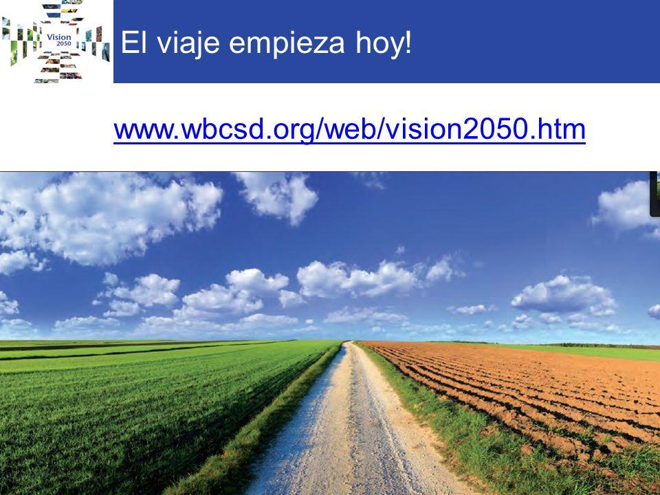 El viaje empieza hoy! www.wbcsd.org/web/vision2050.htm 26