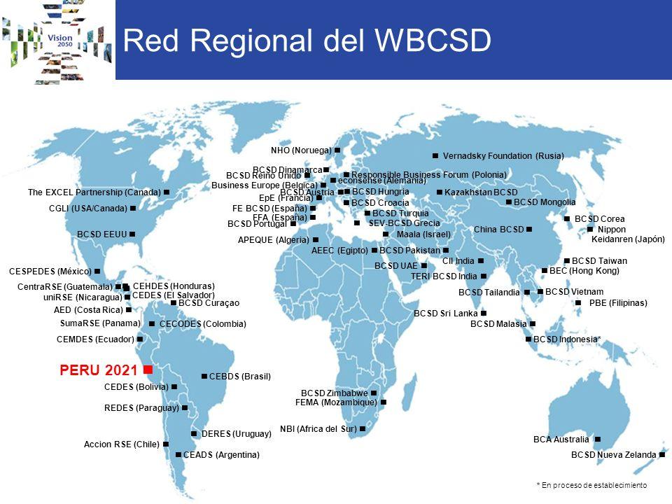 Red Regional del WBCSD Kazakhstan BCSD BCSD Pakistan China BCSD BCSD Mongolia TERI BCSD India BEC (Hong Kong) BCSD Corea BCSD Tailandia PBE (Filipinas