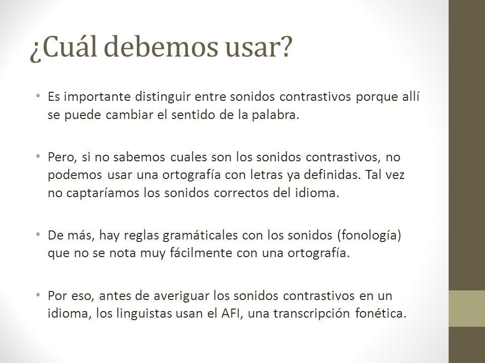 Sonidos contrastivos y no contrastivos [s][z] Español[mismo] -o-[mizmo] mismo [desðe] -o-[dezðe] desde Inglés[zɪt][sɪt] 'zit' = grano de piel'sit' = s