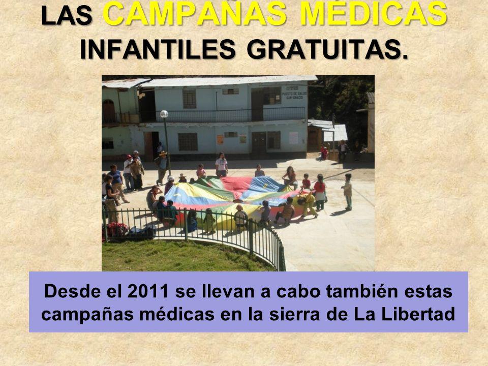 LAS CAMPAÑAS MÉDICAS INFANTILES GRATUITAS.