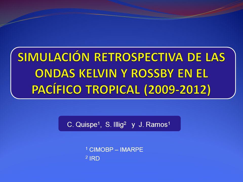 C. Quispe 1, S. Illig 2 y J. Ramos 1 1 CIMOBP – IMARPE 2 IRD