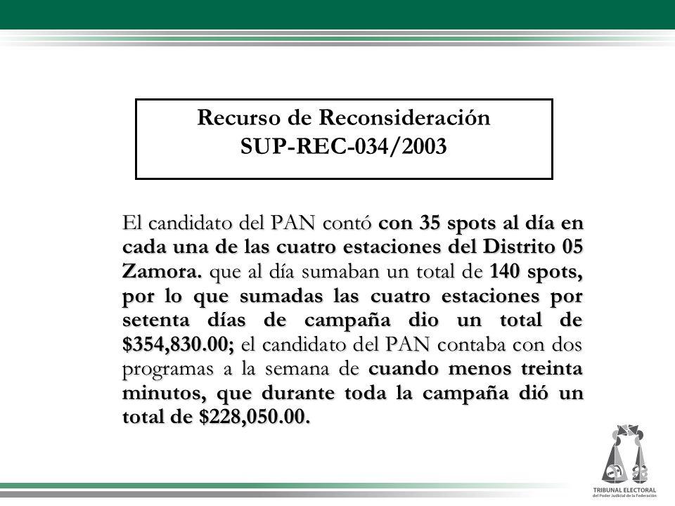 El candidato del PAN contó con 35 spots al día en cada una de las cuatro estaciones del Distrito 05 Zamora. que al día sumaban un total de 140 spots,