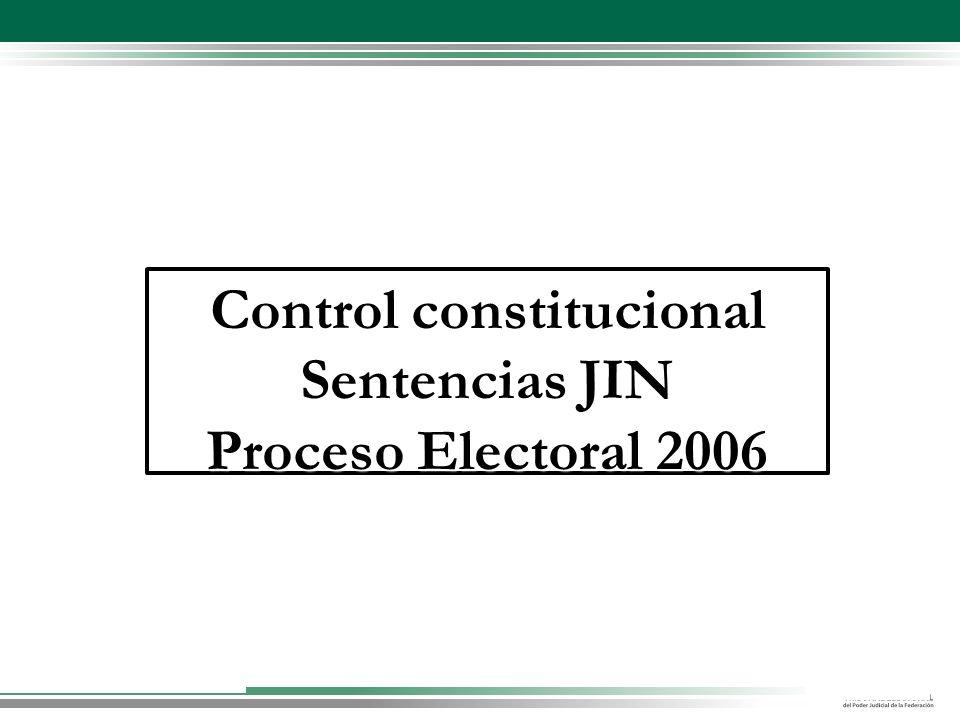 Control constitucional Sentencias JIN Proceso Electoral 2006