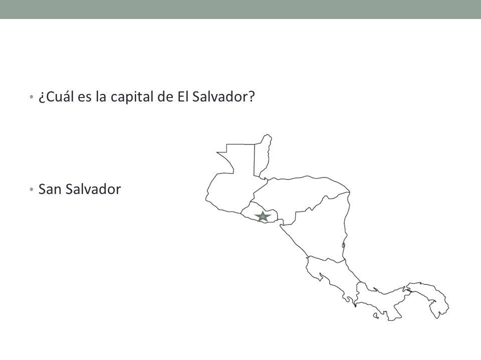 ¿Cuál es la capital de El Salvador San Salvador