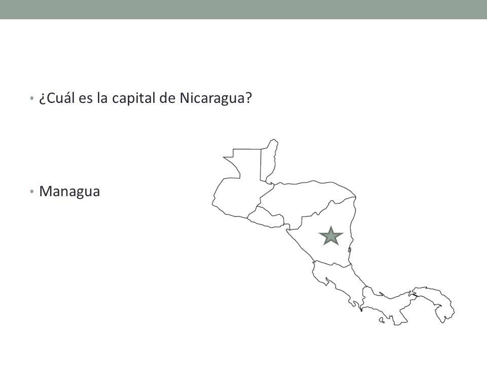 ¿Cuál es la capital de Nicaragua Managua