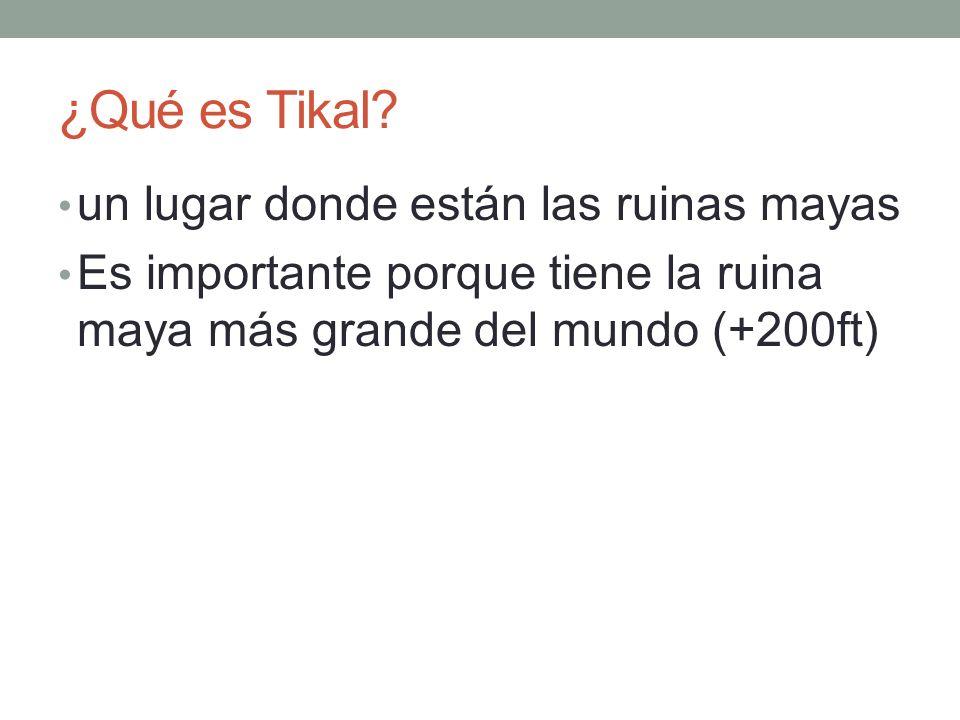 ¿Qué es Tikal.
