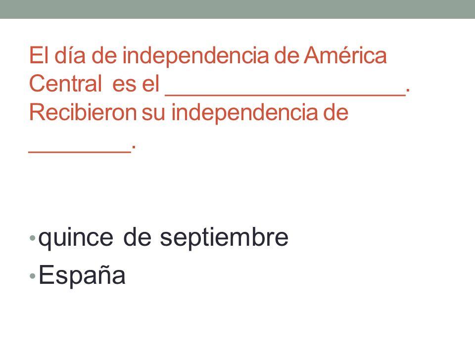 El día de independencia de América Central es el ___________________.