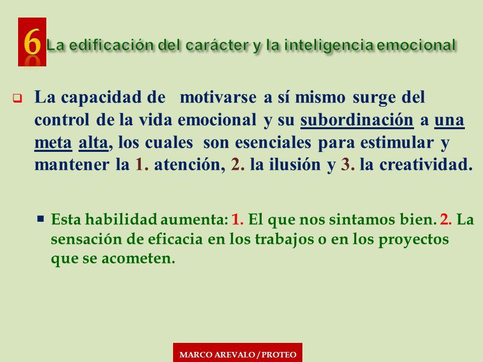 MARCO AREVALO / PROTEO La capacidad de motivarse a sí mismo surge del control de la vida emocional y su subordinación a una meta alta, los cuales son