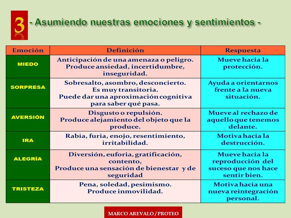 MARCO AREVALO / PROTEO En la interacción familiar temprana y en el intercambio social y cultural posterior, se produce el proceso de adquisición de nuestra manera habitual de pensar, sentir y actuar.