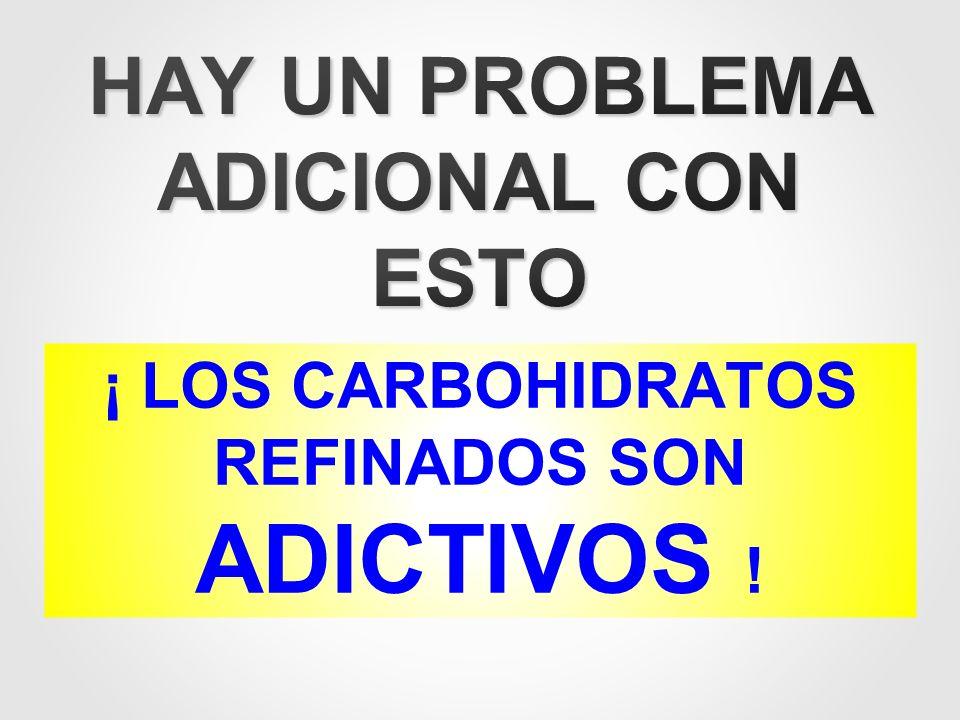 ¡ LOS CARBOHIDRATOS REFINADOS SON ADICTIVOS !