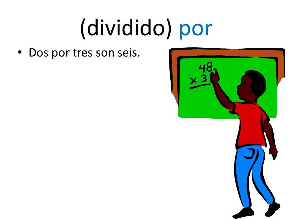 multiplying or dividing