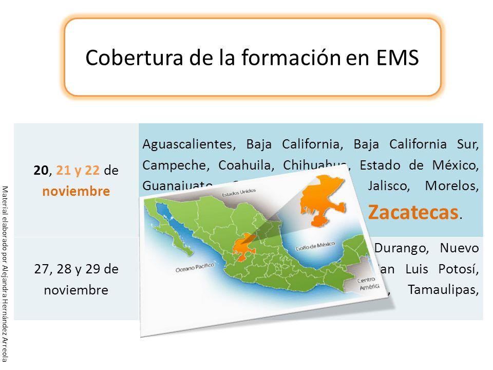 20, 21 y 22 de noviembre Aguascalientes, Baja California, Baja California Sur, Campeche, Coahuila, Chihuahua, Estado de México, Guanajuato, Guerrero,