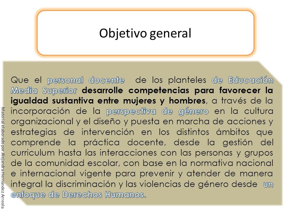 Objetivo general Material elaborado por Alejandra Hernández Arreola