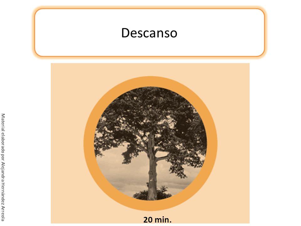 Material elaborado por Alejandra Hernández Arreola Descanso 20 min.