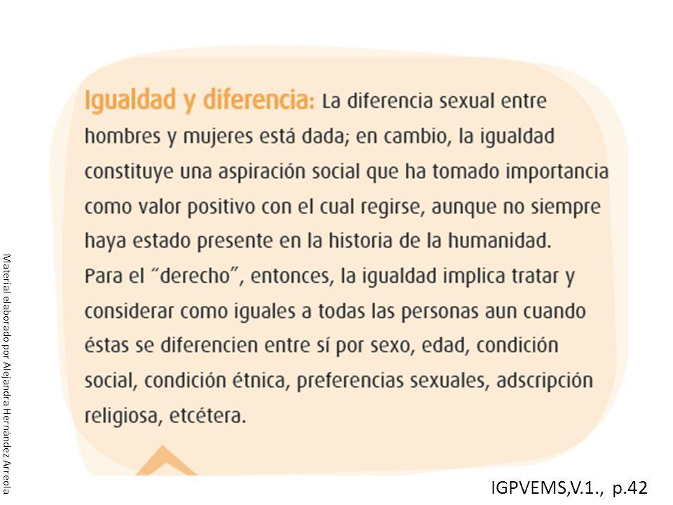 Material elaborado por Alejandra Hernández Arreola IGPVEMS,V.1., p.42