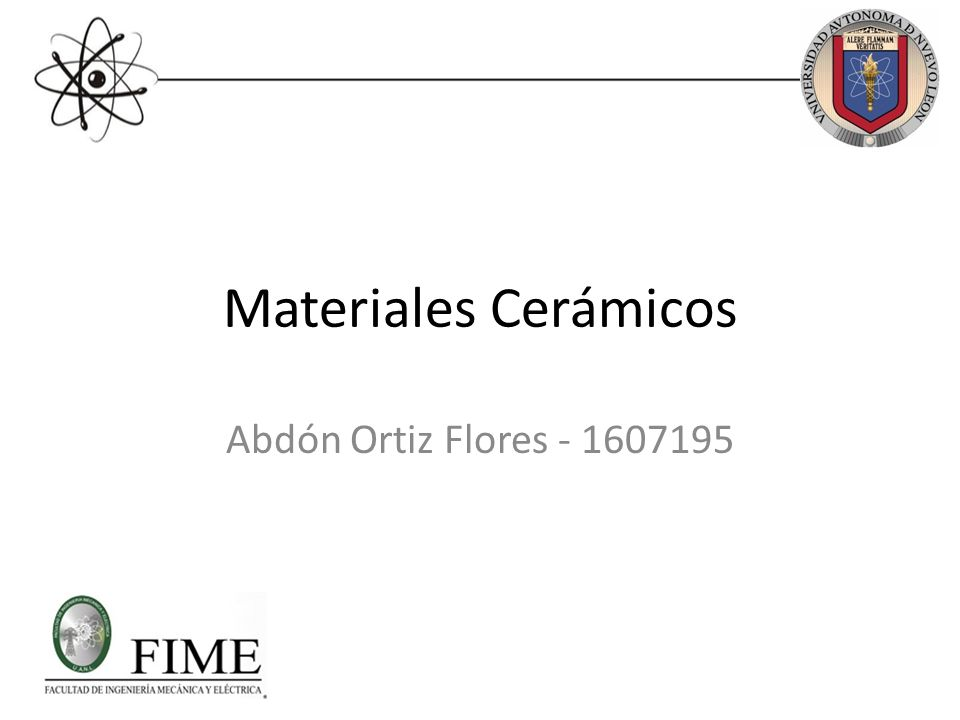 Materiales cerámicos.