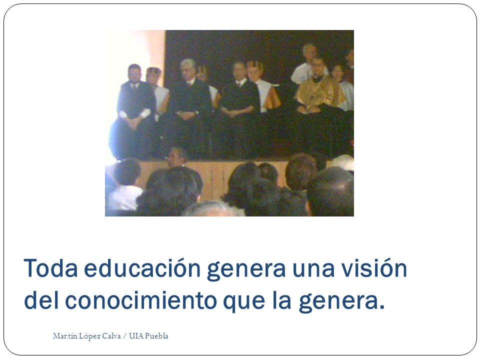 Toda educación genera una visión del conocimiento que la genera. Martín López Calva / UIA Puebla