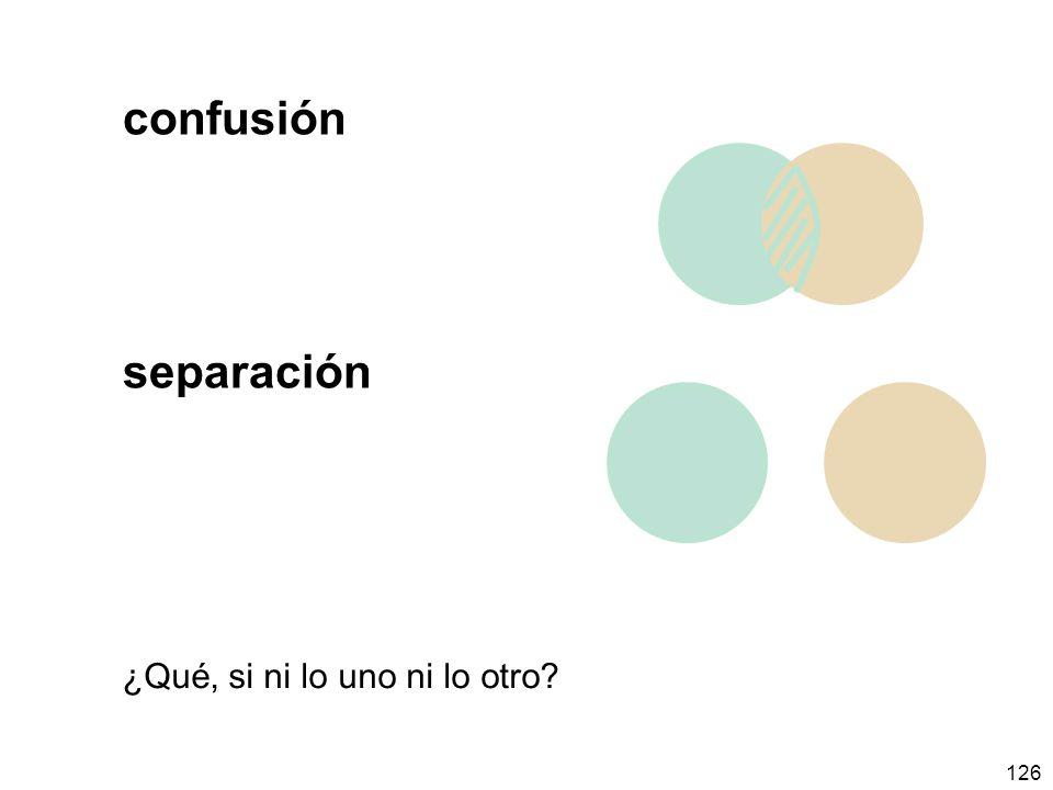 126 confusión separación ¿Qué, si ni lo uno ni lo otro?