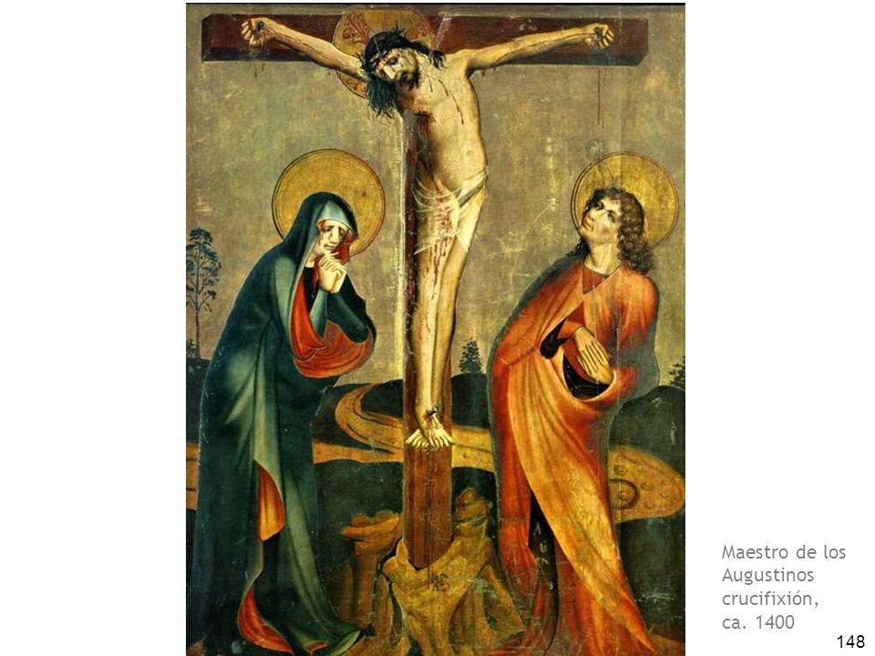 148 Maestro de los Augustinos crucifixión, ca. 1400