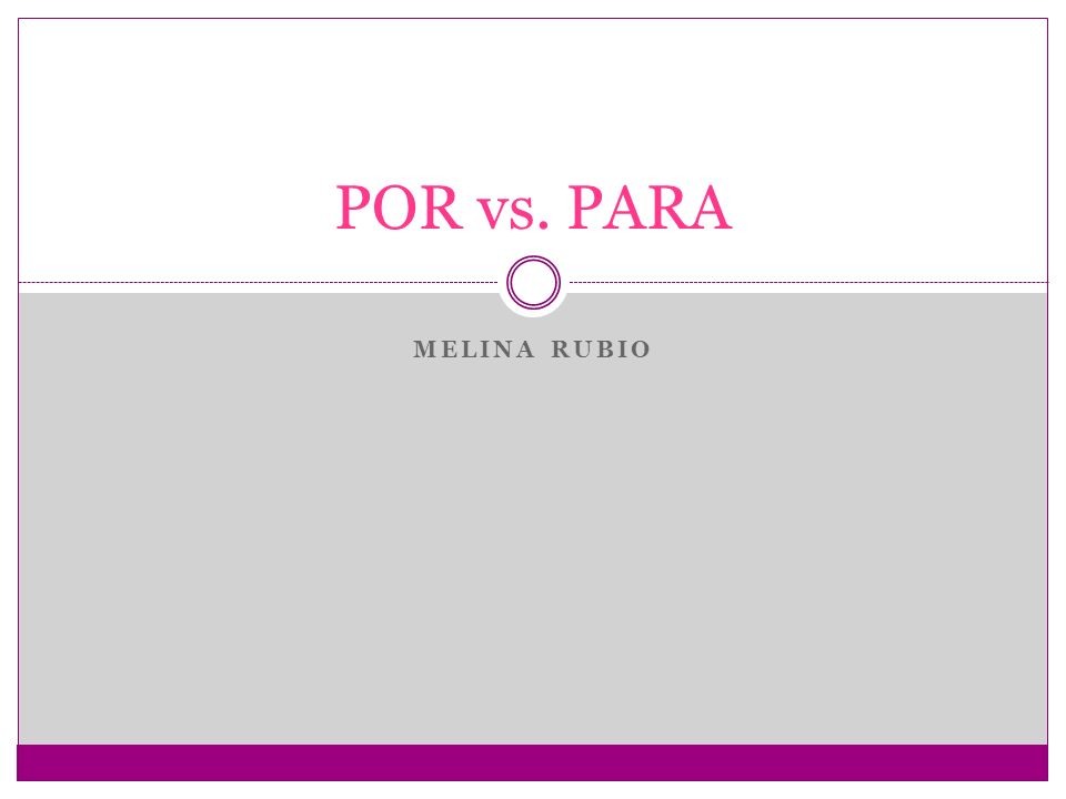 In Spanish there are two ways to say for today we will discuss the differences between the two and when to use each one.