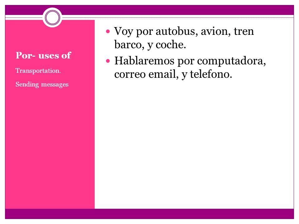 Because of + infinitive Because of + object No puedo trabajar por estar enferma.