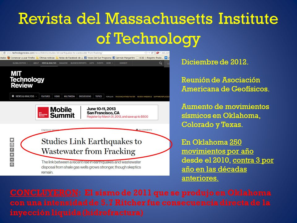 Revista del Massachusetts Institute of Technology Diciembre de 2012.