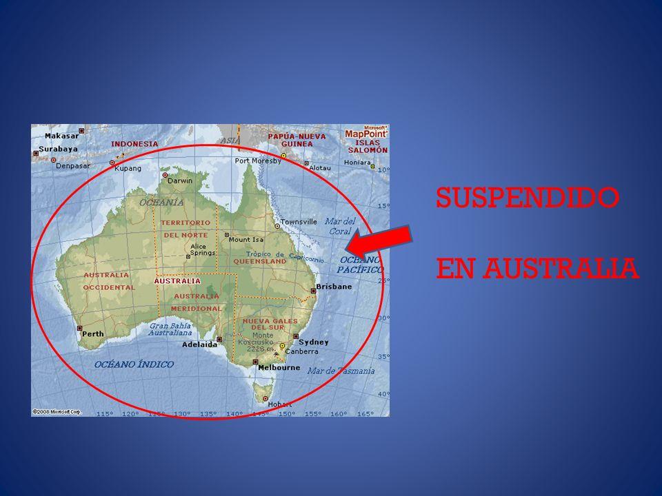 SUSPENDIDO EN AUSTRALIA