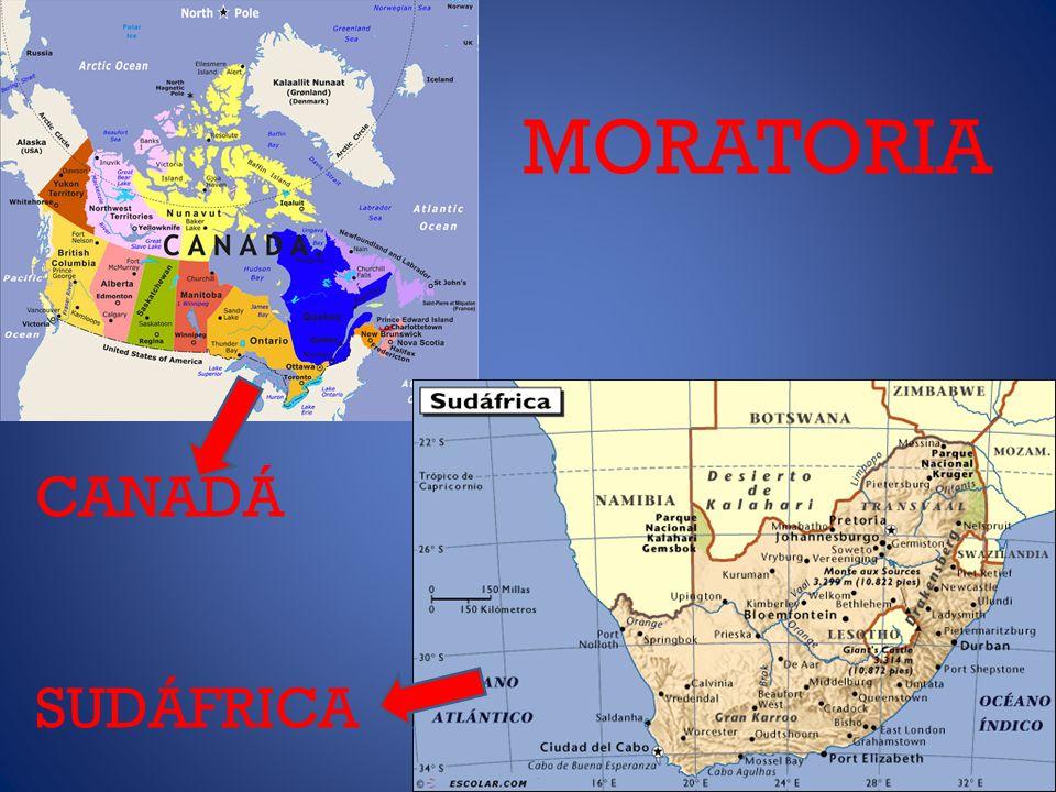 MORATORIA CANADÁ SUDÁFRICA