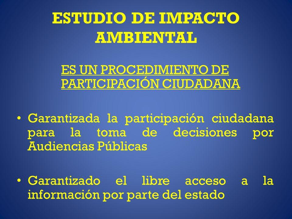 ESTUDIO DE IMPACTO AMBIENTAL ES UN PROCEDIMIENTO DE PARTICIPACIÓN CIUDADANA Garantizada la participación ciudadana para la toma de decisiones por Audi